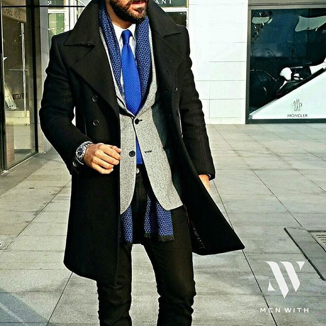 Love the combo ✔  I have this thing with Electric Blue and Black lately. ♥ anyone with me ?  Thank you so much for the featuring our outfit Check them our friend @menwithclass✌ #Menwith