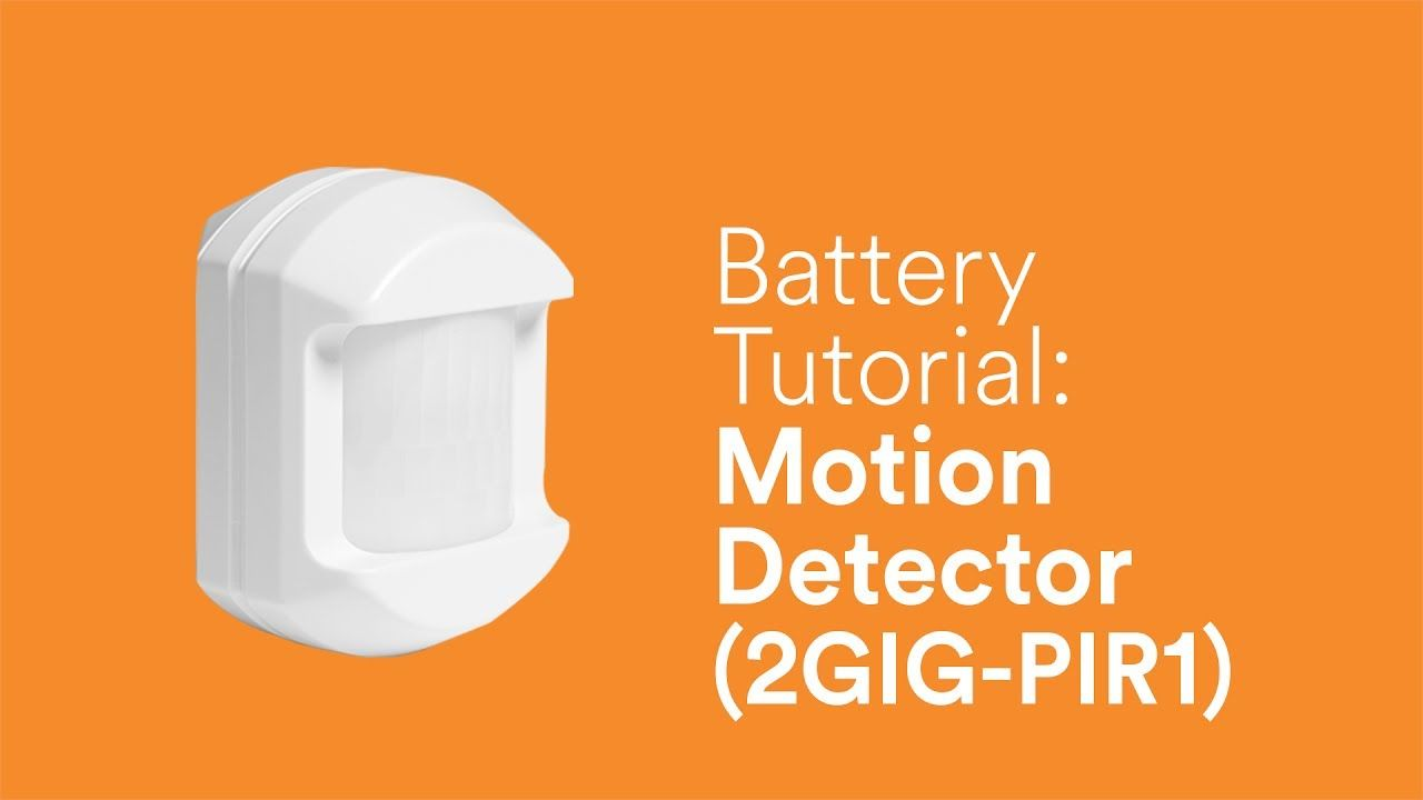 Battery Tutorial Motion Detector Pir1 Motion Detector