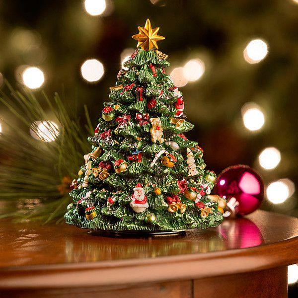 Porcelain Christmas Tree Train Music Box Christmas Tree Train Christmas Music Box Antique Music Box