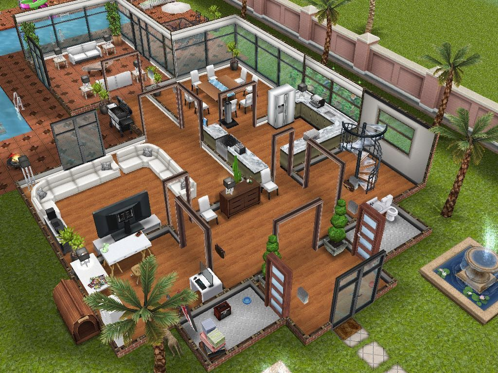 Two Storey Mansion Modified Sims House Sims Building Sims House Sims Building Sims Freeplay Houses