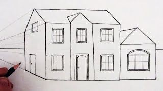How To Draw A House In 1 Point Perspecive