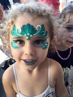 melissa k face painting mermaid crown  face painting