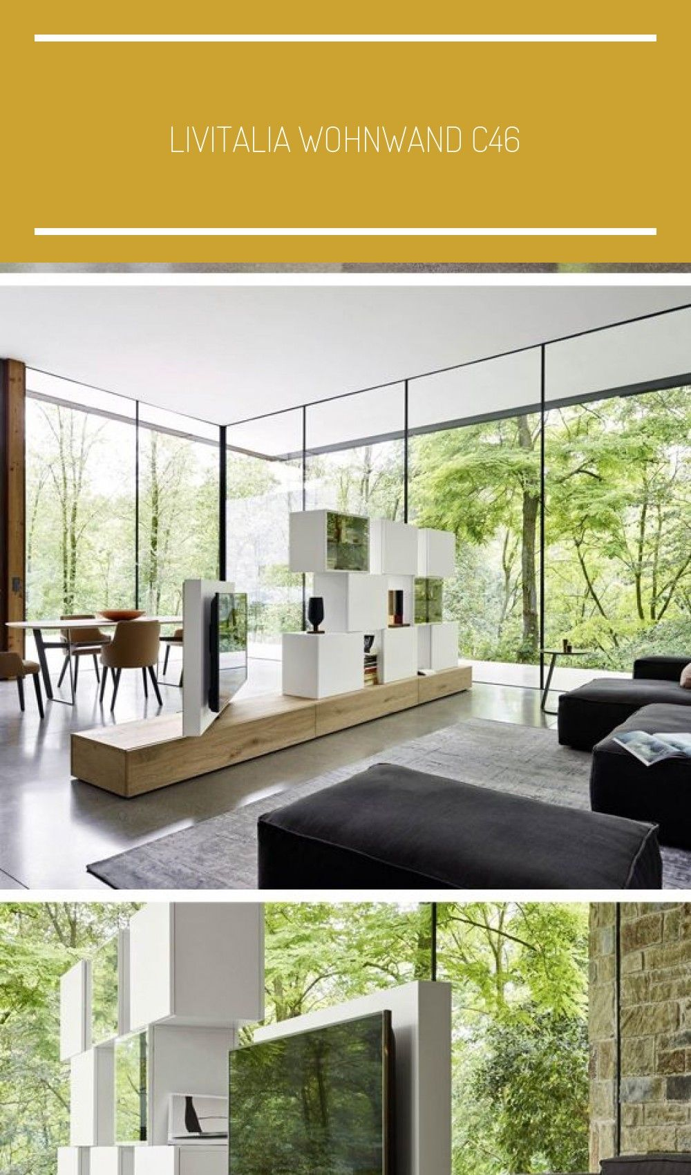 Livitalia Wohnwand C46 Modern Design Modern Ikea I