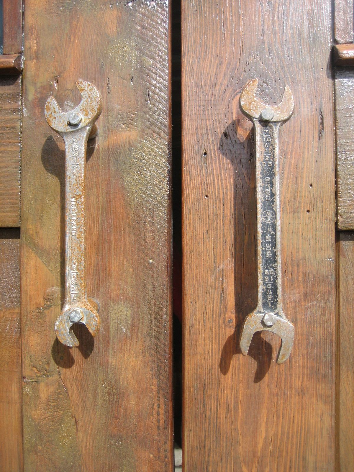 Our Garage Door Handles Made From Old Spanners We Call Them