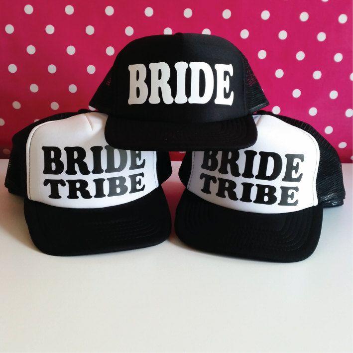 76c7e939 Bachelorette Party Hat. Bride Hat. Bride Tribe Hat. Bachelorette Trucker  Hats. Hen Party Hat. Wedding Party Hat. Snapback Bridal Shower Hats by  SoPinkUK on ...