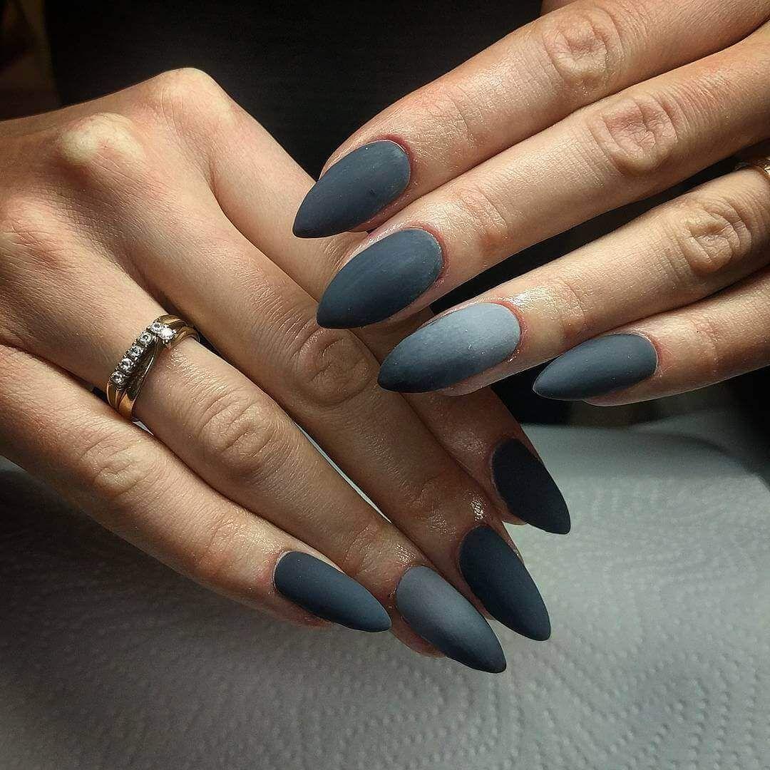 decoracion de uñas degradado mate unas largas | Ногти в стиле ...