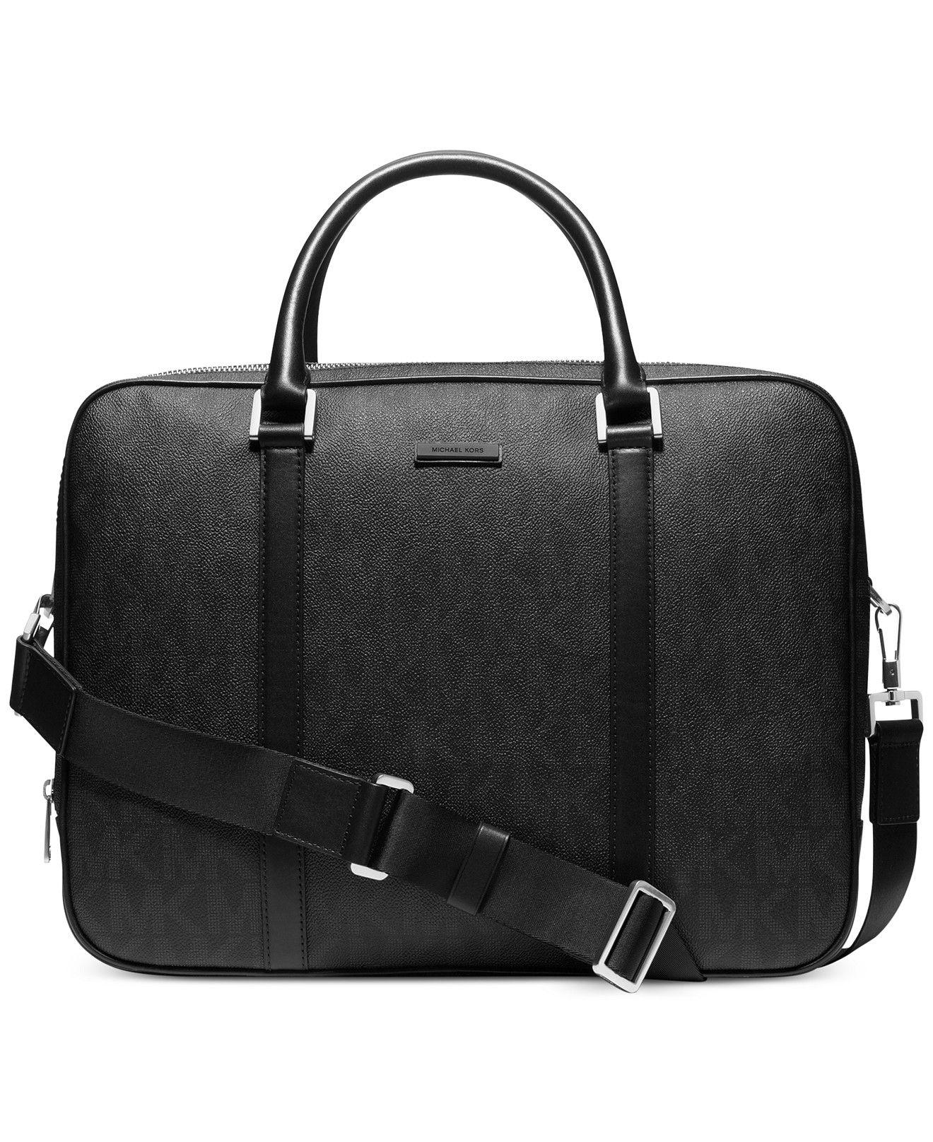 71328d1748bbff Michael Kors Jet Set Shadow Large Double-Gusset Briefcase - Bags & Backpacks  - Men - Macy's