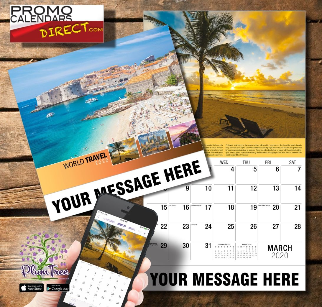 World Travel Promo calendars, Travel, Promotional calendar