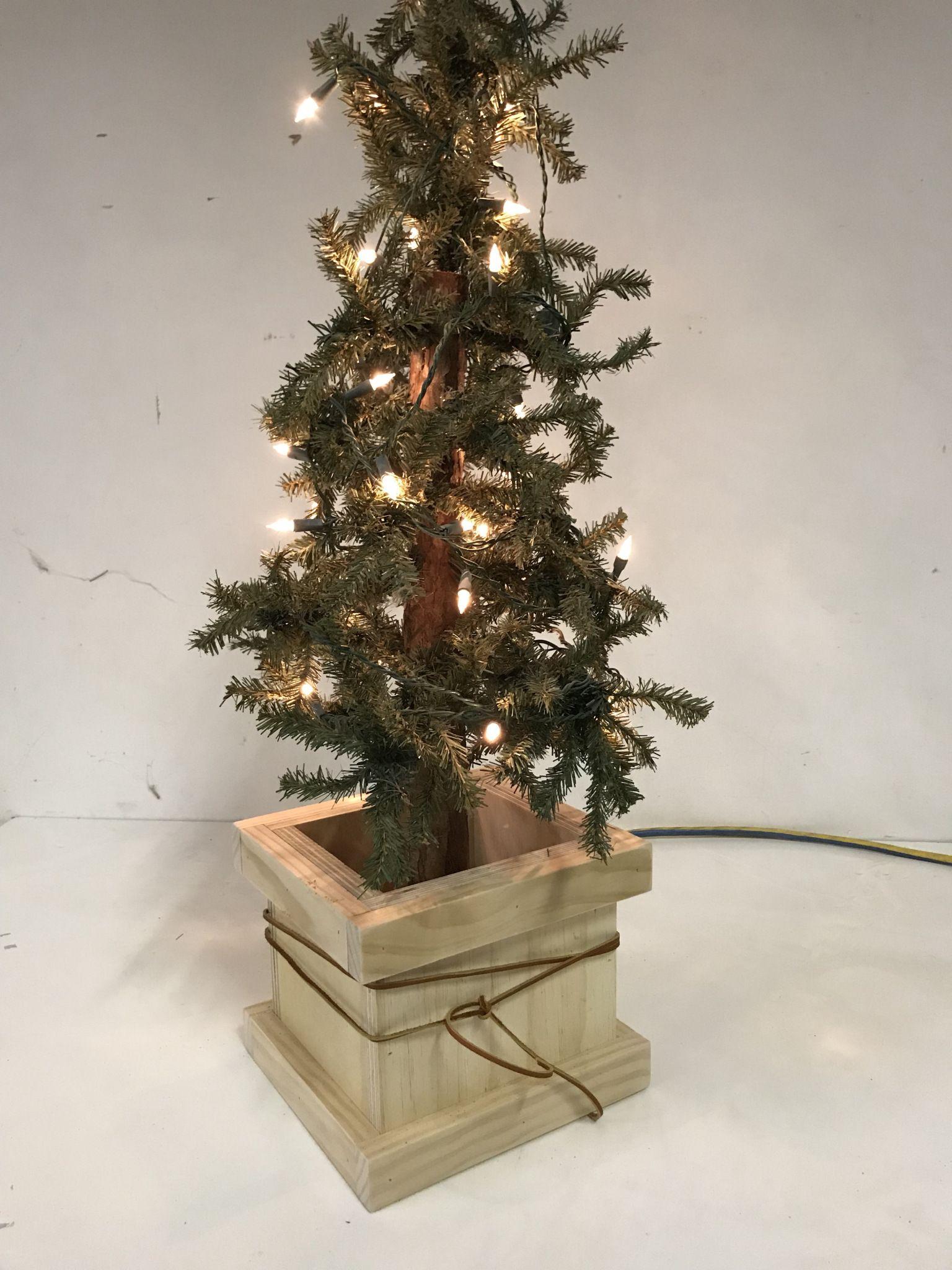 Diy Christmas Tree Box Christmas Tree Box Diy Christmas Tree Tree Box