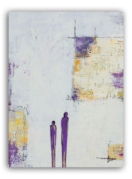 Acrylmalerei Abstraktes Acrylbild Lila Parchen Ein