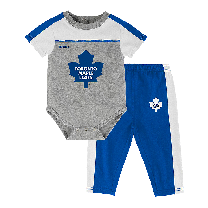 One-pieces Nhl Toronto Maple Leafs Bodysuit Romper Jumpsuit Outfits 3 Piece Set Newborn Ice & Roller Hockey