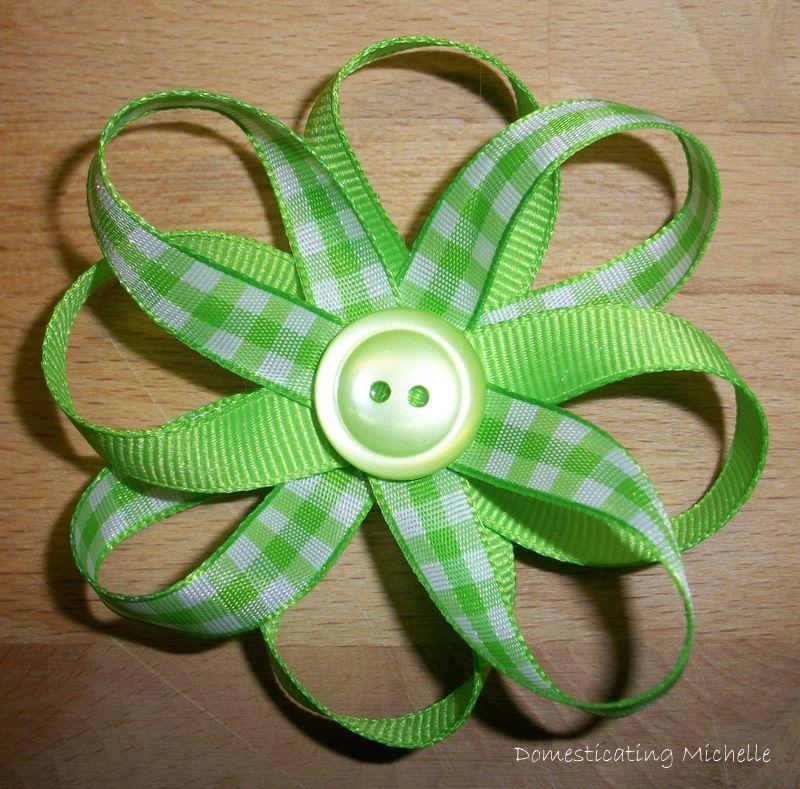Ribbon Flower Tutorial #ribbonflower