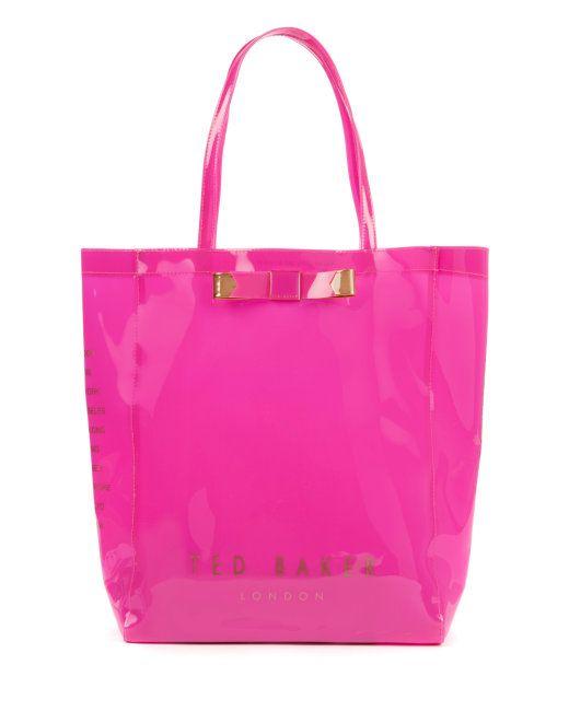 2ae1a44c8ba66 Bow shopper bag - Bright Pink