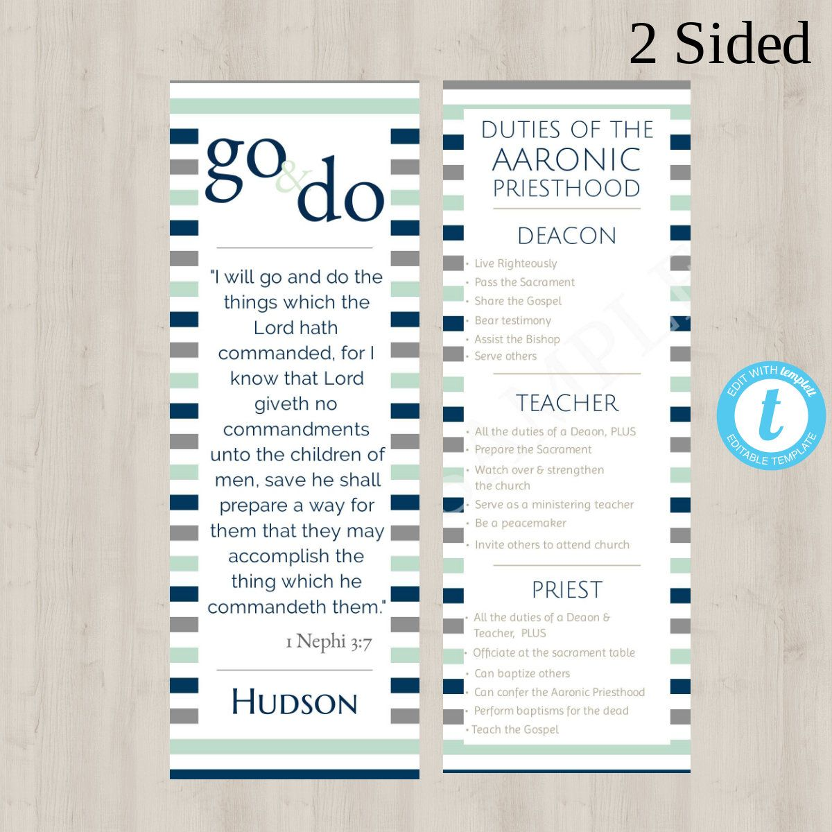 2 Editable Young Men 2021 Theme A Great Work Bookmark Templates Priesthood Lds D C 64 33 34 Edit Online Print Doublesided Or Separately Lds Youth Youth Programs Priesthood