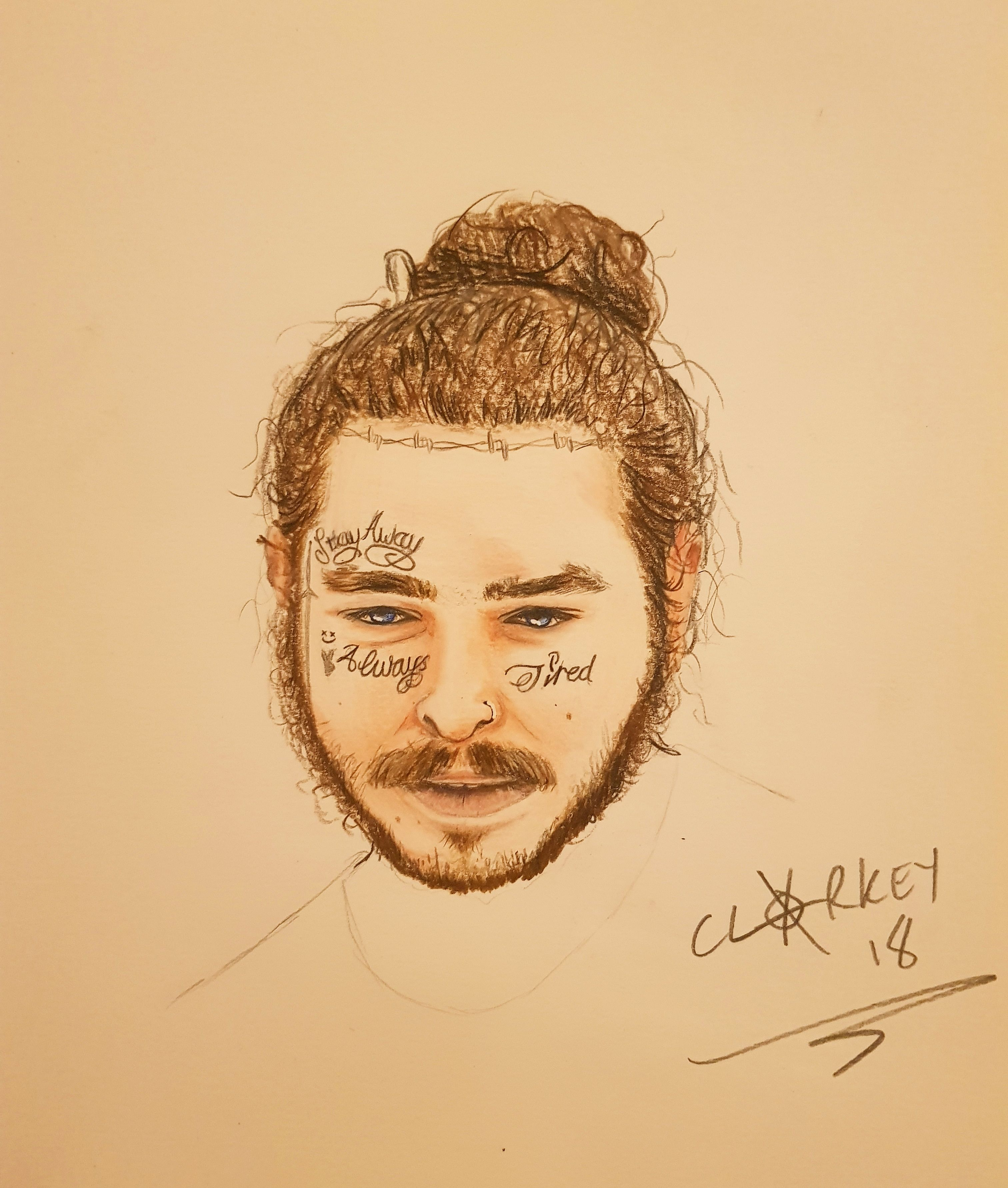 Post Malone Polychromos Prismacolor Pencils 11x8 Art In X8 Kendrick T Shirt Size M