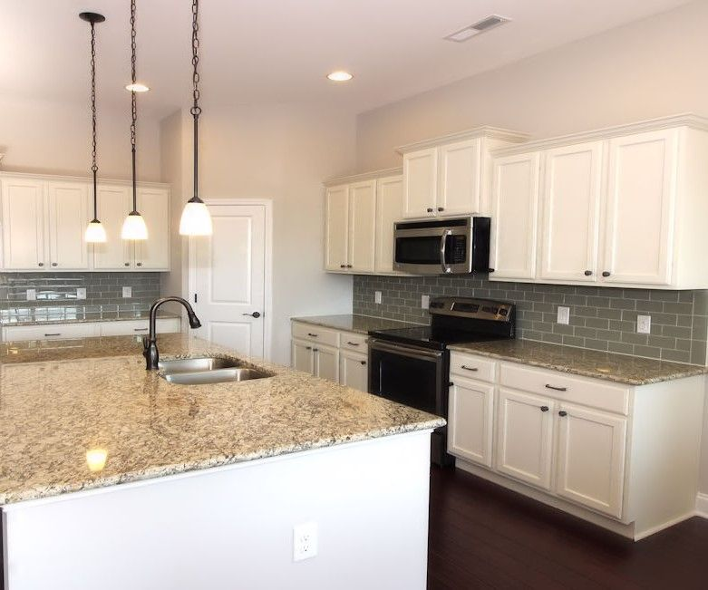 Gorgeous White Cabinets Light Colored Granite Countertops Carolina Shores North Carolina