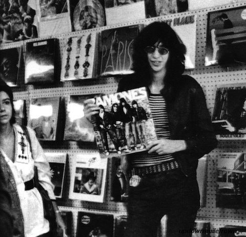 Musicians Hanging Out In Records Stores Joey Ramone