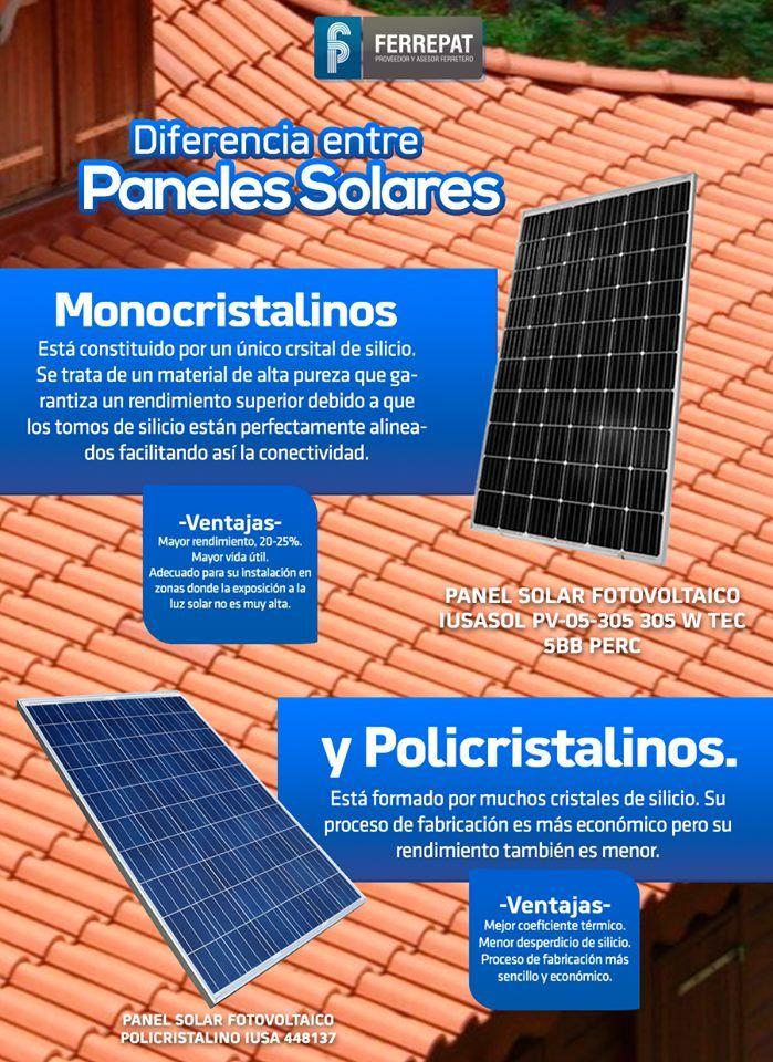 Paneles Solares Monocristalinos O Policristalinos Paneles Solares Panel Casas Autosustentables