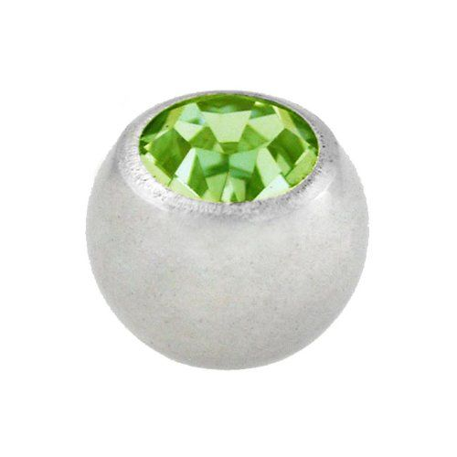 Amazon.com: Surgical Steel Green Crystal Individual Spare Part Body Jewelry Ball (Set of 2): Jewelry