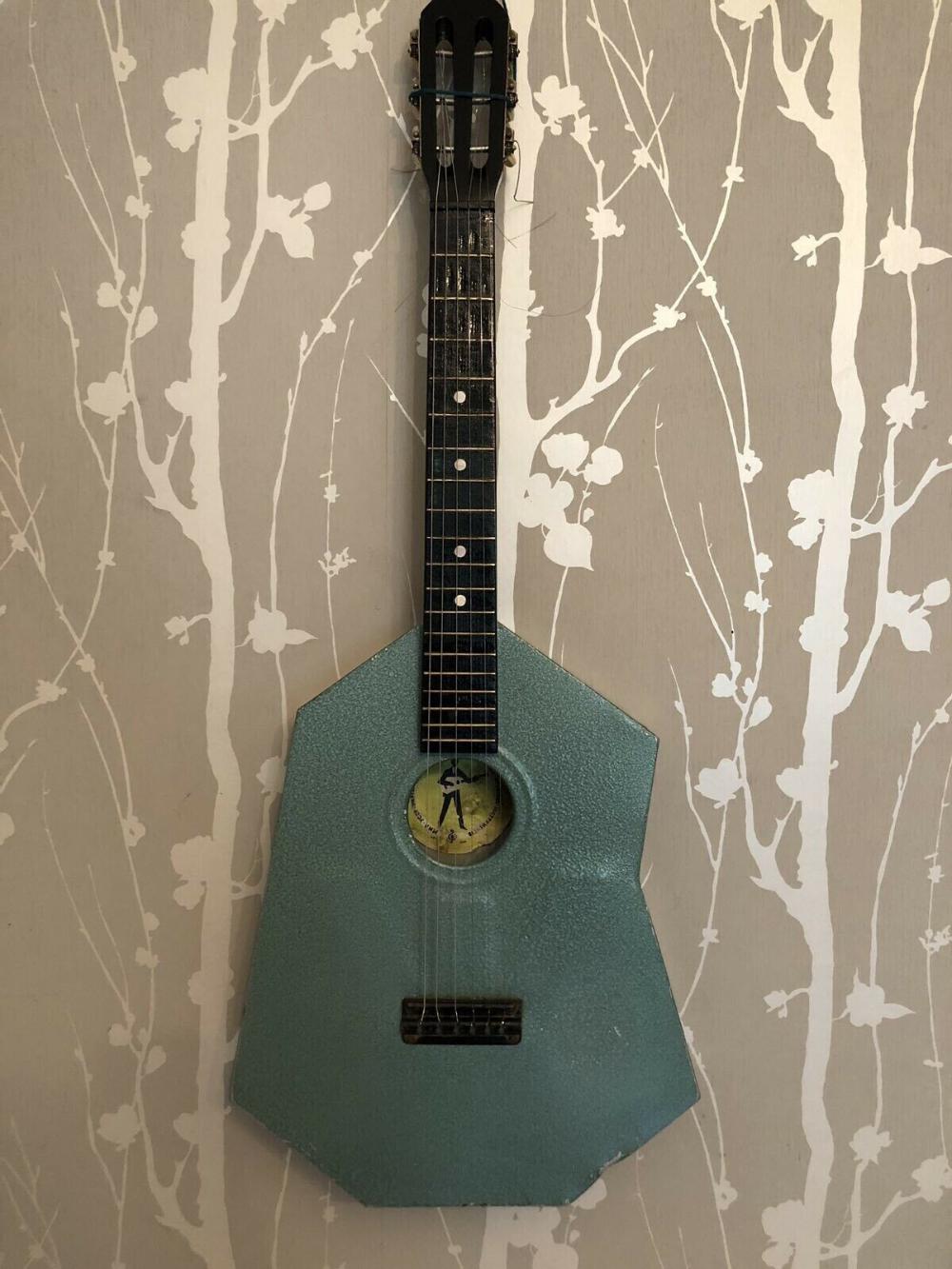 Aluminium Metal Body Stone Acoustic Guitar Ussr Soviet And Very Vintage Acoustic Guitar Guitar Aluminum Metal