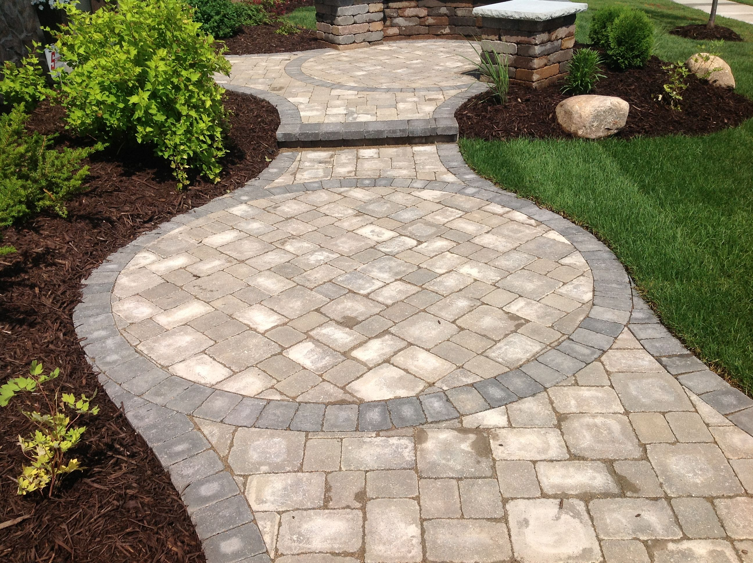 nice curved pavers home depot for natural garden decor