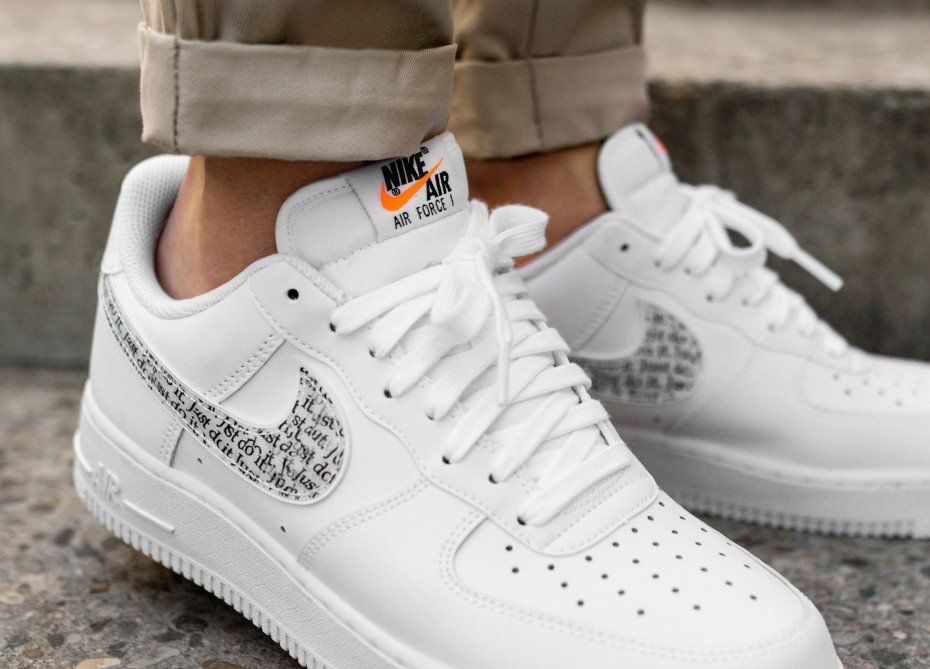 Nike Air Force 1 07 Lv8 Jdi Lntc White White Black Total Orange Bq5361 100 2 Os Nike Shoes Air Force Nike Air Force White Nike Air
