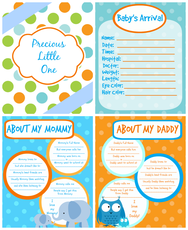 Printable Baby Book Pages Free Download Baby book pages