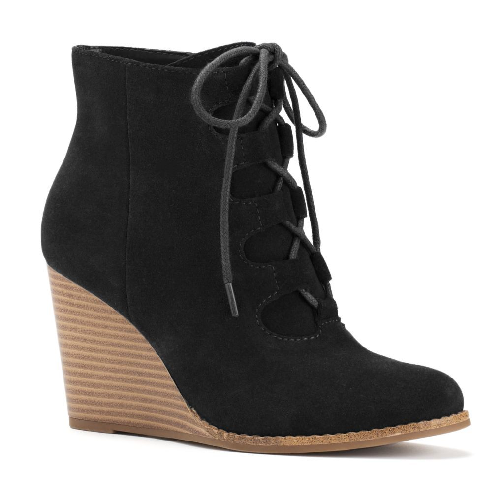 43f7fc9a98a SONOMA Goods for Life™ Women's Suede Wedge Ankle Boots | Erikas ...
