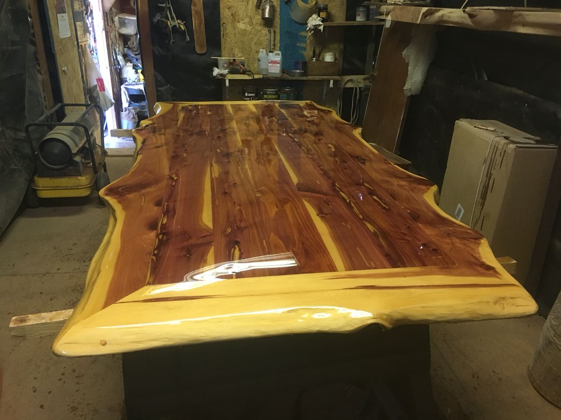 Cedar Table Top With Live Edge Cedar Table Live Edge Furniture Trending Decor