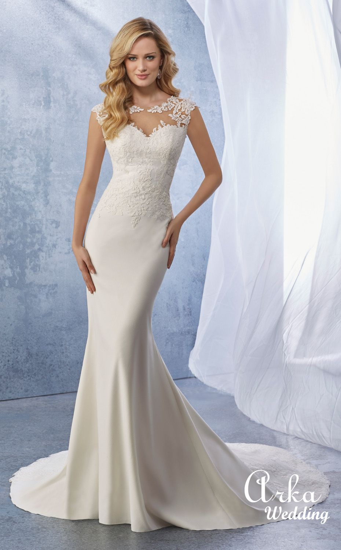 b68b97856cd Νυφικά Γοργονέ | Dresses etc in 2019 | Slinky wedding dress, Ronald ...