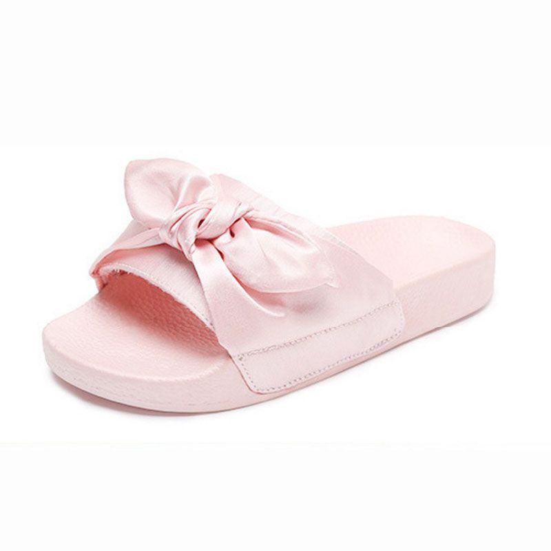 264db76ae3a8 Girls Slippers 2017 Fashion Design Casual Beach Slippers Kids Shoes Sandal  Summer Slides Princess Bow Knot Children Slippers   Price   24.68   FREE  Shipping ...