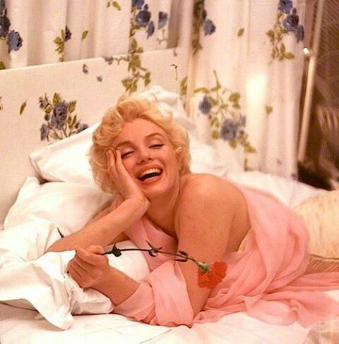 Marilyn Monroe In A Bed Holding A Red Rose Marilyn Monroe Marilyn Cecil Beaton