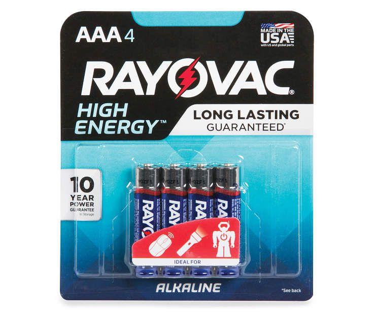 Rayovac Aaa Alkaline Battery 4 Count Big Lots Alkaline Battery Big Lots Alkaline