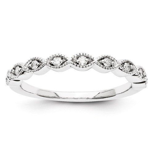 14k White Gold Marquise Style Diamond Wedding Anniversary Ring