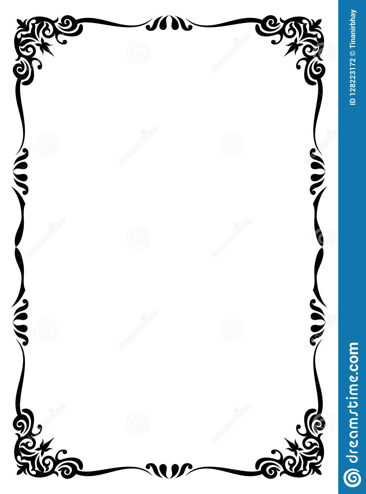 The Awesome Restaurant Menu Card Frame Template Stock Vector Intended For Blank Restaurant Menu Tem Restaurant Menu Card Restaurant Menu Template Menu Template