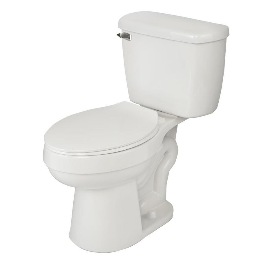 AquaSource Henshaw White WaterSense Labeled Elongated Chair Height 2 ...