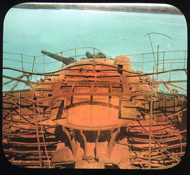 https://flic.kr/p/6MoRo6 | Wreck of battleship Almirante Oquendo | On board rusted out wreck from the Spanish American War, the Spanish battleship <i>Almirante Oquendo</i>, which ran aground in 1898. 1899.  <b>Name of Expedition:</b> Allison V. Armour Expedition <b>Participants:</b> Charles F. Millspaugh, Edward P. Allen, Edward S. Isham Jr.,Jordan L. Mott Jr.   <b>Expedition Start Date:</b> December 21, 1898  <b>Expedition End Date:</b> March 11, 1899 <b>Purpose and Aims:</b> Plant ...