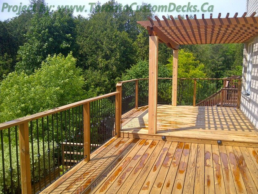 The Pergola At The Upper Deck. #Deck Design #custom Deck #patio #