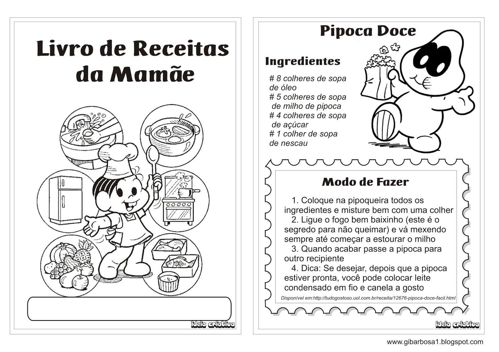 Livro De Receita Lembrancinha Dia Das Maes Colorir Turma Da Monica 1 Jpg 1600 1131