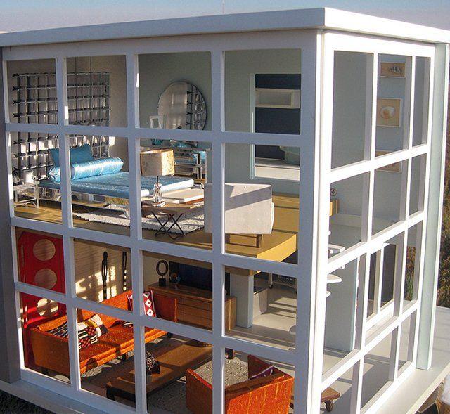 die besten 25 modernes puppenhaus ideen auf pinterest diy puppenhaus puppenhausdesign und. Black Bedroom Furniture Sets. Home Design Ideas