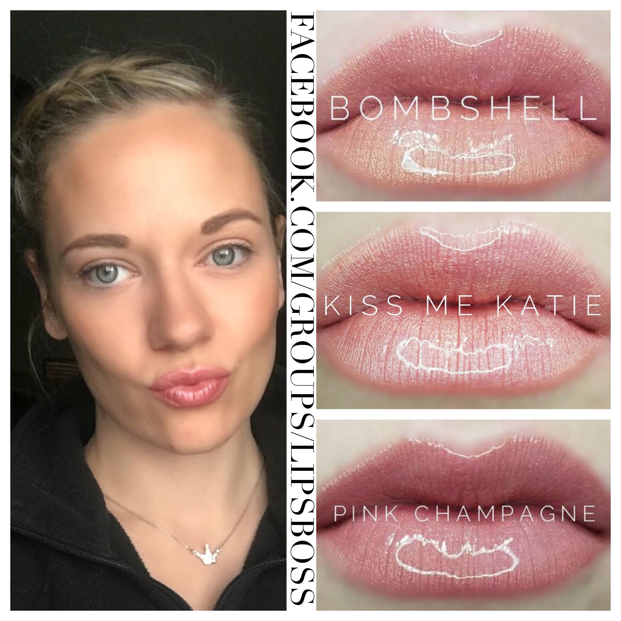 Black And Pink Kiss Makeup: LipSense Natural Pre Mixed Combo. Pink Champagne, Kiss Me