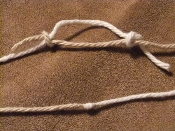 Knitting Knot Join : Magic knot to join yarn a tiny that won t come