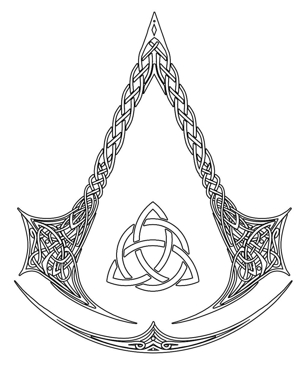 Deviantart More Like Assassin S Creed Logo Tattoo Commission By