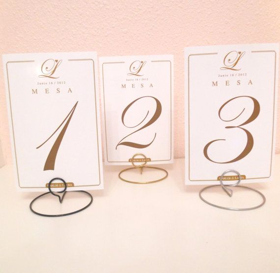 Wedding Round Shaped Table Number Holders Your Choice Of Color Silver Gold Black Table Number Holders Wedding Table Number Holders Wedding Table Numbers