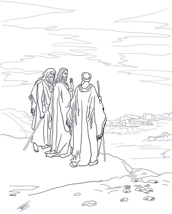 Jesus On The Road To Emmaus Coloring Page Road To Emmaus Jesus