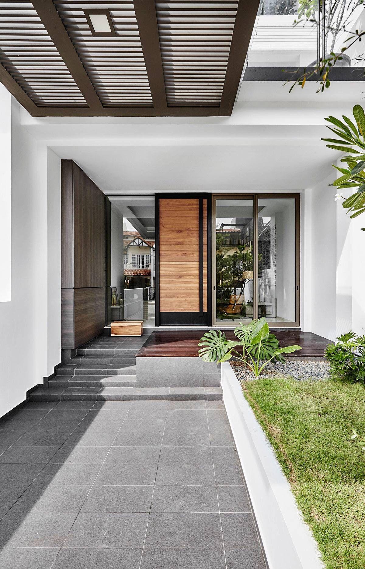Porch Extension Modern Car Porch Tiles Design