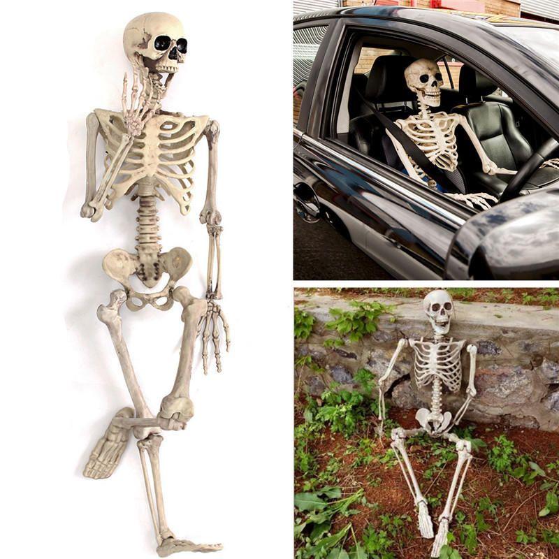 90cm Halloween Party Tricky Simulation Skull Skeleton Toys For Kids ...
