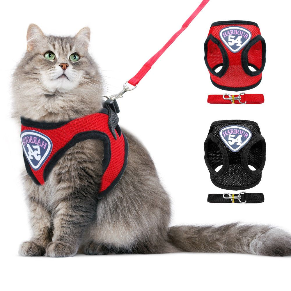 Cat Walking Harness Leash Breathable Kitty Clothes Dog Puppy Harness Vest Jacket Ebay Cat Harness Puppy Harness Pet Harness