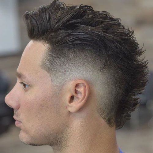 Great Taper Fade With Modern Faux Hawk