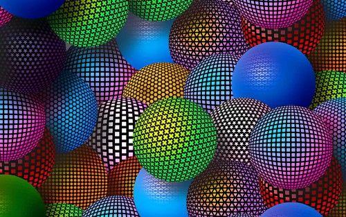 3d Neon Balls 2560x1600 For Samsung Galaxy Note Pro 12 2 Wallpaper